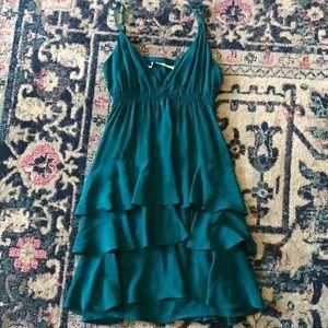 Twelve Street By Cynthia Vincent Teal Silk Dress